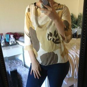 J. CREW 100% silk print blouse